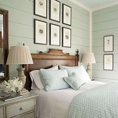 cottage style bedrooms. Love planking and color How to Achieve a Cottage Style  style Bedrooms Wall