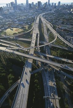 Aerial view of Miami highway