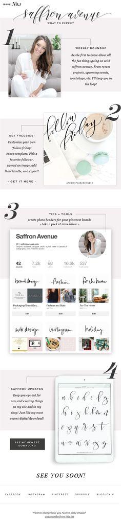 Saffron Avenue, Newsletter Design, Graphic Design, Logo Design, Website Design, Free Download