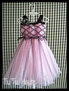 Items similar to Empire Waist Pink and Black Polka Dot Tutu Dress with handmade  Zebra Flower. Pageant Dress. Flower girl dress. Tween sizes 12 to 16. on Etsy. , via Etsy.