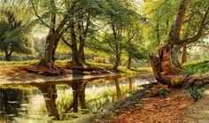 A stream in Dyrehaven Peder Mork Mønsted - 1904