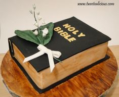 Bible Cake with Lily of the Valleys