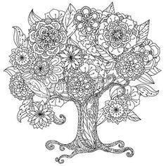 tatouage henne: Forme de cercle orient floral arbre noir et blanc peut être utilisé pour colorer livre dans le style de zentangle. Illustration