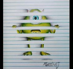 Amazing art drawings sketches 41 ideas for 2019 Drawings On Lined Paper, Amazing Drawings, Art Drawings Sketches, Cute Drawings, Amazing Art, 3d Art On Paper, Disney Drawings, Illusion Drawings, Arte Disney