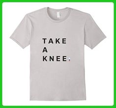 Mens Take a Knee #takeaknee Football Protest T-Shirt 2XL Silver - Sports shirts (*Amazon Partner-Link)