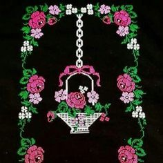 This Pin was discovered by sih Christmas Cross, Christmas Ornaments, Goblin, Crochet Necklace, Cross Stitch, Create, Holiday Decor, Floral, Instagram