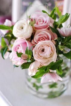 Roses and ranunculi