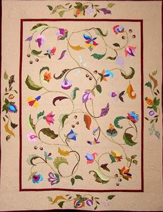 Jacobean Fantasy by Doreen Monks  (Quilted by Christine Fahey of Stack & Stipple)