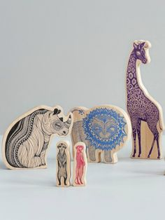 Africa – Wooden Animal Set for 332 KR / approximately 36 EUR from Mini Empire