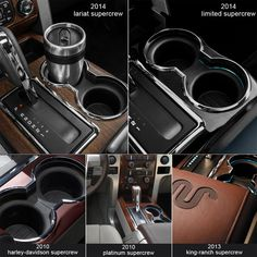 Cup Holder Insert 2pcs Fit 2004-2008 F150(Flow Through Console) – Winunite Cup Holder Insert, King Ranch, Center Console, Flow