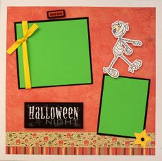HALLOWEEN Premade 12x12 scrapbook page by lovethatscrap on Etsy, $8.00