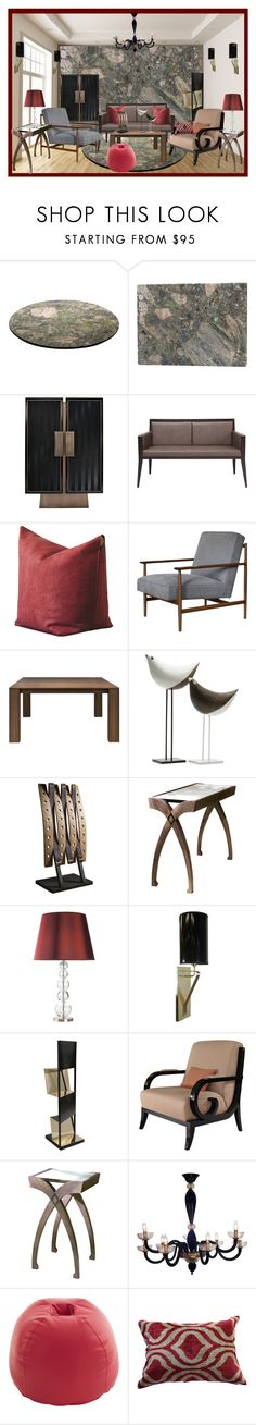 """Sin título #1487"" by ereerece ❤ liked on Polyvore featuring interior, interiors, interior design, home, home decor, interior decorating, Bitossi and Les-Ottomans"