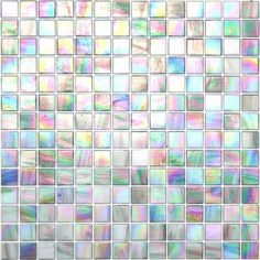 Kaleidoscope ColorGlitz Iridescent Glass Mosaic - CG1851 - Screenplay Gray