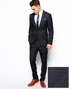 Slim Fit Gray Tuxedo Suit Jacket. [ HGNJShoppingMall.com