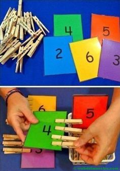 Top 40 Examples for Handmade Paper Events - Everything About Kindergarten Motor Skills Activities, Preschool Learning Activities, Toddler Activities, Preschool Activities, Learning Numbers, Kids Education, Counting, Fine Motor, Grasshoppers