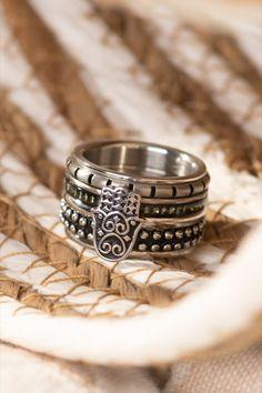 Tough yet sophisticated! 🖤 - ixxxi - ixxxi jewelry - black - silver - boho - hand - bohemian - vintage - zirconia - glitter Boho Jewelry, Silver Jewelry, Silver Rings, Health Symbol, Boho Festival, Vintage Bohemian, Black Silver, Class Ring, Rings For Men