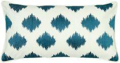 One Kings Lane - Finds Under $50  - Diamond 11x21 Cotton Pillow, Cream