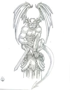 Gargoyle tattoo by Kat-Cappuccino flash art ~A. Gargoyle tattoo by Kat-Cappuccino flash art ~A. Gargoyle Drawing, Gargoyle Tattoo, Griffin Tattoo, Nightwing, Small Tattoos, Tattoos For Guys, Wall Paper Iphone, Gothic Gargoyles, Tattoo Images