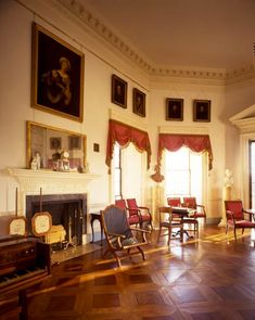 Thomas Jefferson's Monticello Parlor, Charlottesville, Virginia, USA
