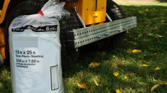 recommened plastic sheet for pulling or moving leaves, branches, tree limbs, mulch, bush trimming with your riding lawn mower or zero turn while using the tarp tow system.
