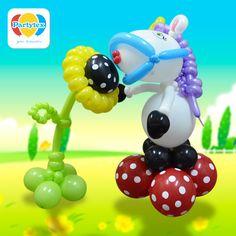 Hermosas #esculturas realizadas en #Globos #Partytex, anímate a hacer la tuya!!