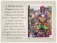 Troy Snyder blog about the Carnaval de Negros y Blancos that takes place in Colombia.