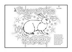 Print off and colour in this fabulous free Rabbit printable Chinese New Year Greetings Card template, for the Chinese Year of the Rabbit. iChild.co.uk