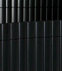 Sichtschutzmatte PVC Sichtschutz kunststoff Sichtschutz Bambus Bambusmatte PVC doppelseitig, schwarz