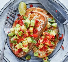 Bring together two great brunch recipes – eggy bread and avocado on toast – then add a Mexican twist. A hit of chilli takes this to another level Scottish Recipes, Turkish Recipes, Ethnic Recipes, Bbc Good Food Recipes, Cooking Recipes, Healthy Recipes, My Favorite Food, Favorite Recipes, Beans On Toast