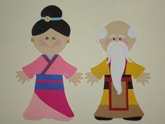 Mulan THE Emporer Paper Doll Cricut DIE CUT Scrapbook Embellishment   eBay