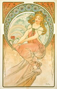 アルフォンス・ミュシャ 「四芸術:絵画」1899年 ミュシャ財団蔵 (C)Mucha Trust 2013