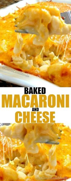 Baked Macaroni and Cheese with a secret ingredient!