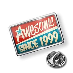 Pin Awesome since 1999, Birthday/Year - Lapel Badge - NEONBLOND by NEONBLOND -- Awesome products selected by Anna Churchill