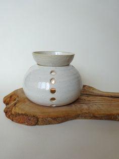 Handmade Ceramic Essential Oil Burner  White by viCeramics on Etsy