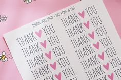thank you favor tags for heart themed birthday! (from karencookiejar.com)