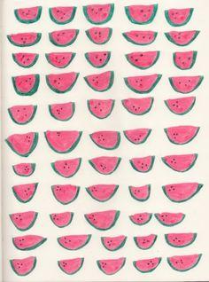 pattern, melon, fruit, pattern, illustration