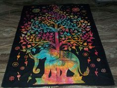 Tree Of Life Indian Tapestry Wall Hanging Throw Vintage Cotton Bedspread Decor #Handmade #BedspreadTapestry