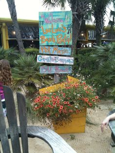 Lulu's in Gulf Shores, Alabama. It really is like a beach party when you go to Lulu's!