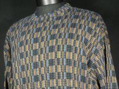 Jhane Barnes Sweater Geometric Mens Medium Geometric Crewneck Cotton Blend #Mensfashion #Style #Blackfriday http://r.ebay.com/E0uW88