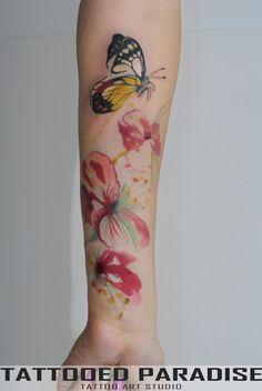 tattoo, water color :)  #tattoo #tattoos #tat #ink #inked #tattooed #tattoist #art #design #photooftheday #tatted #instatattoo #bodyart #tatts #tats #amazingink #tattedup #inkedup #watercolortattoo #dragonfly #watercolor #abstract #tattooedparadise