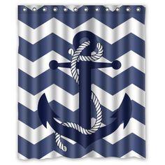 Navy stripe bath accessories i want that pinterest for Zig zag bathroom decor