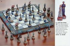 CIVIL WAR CHESS SET ** Authentic Detailed Costumes ** NIB