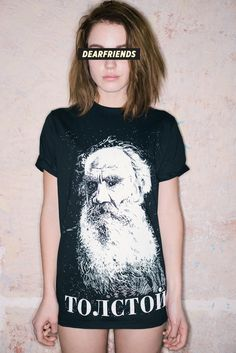 dearfriends clothing, Tolstoy T-shirt
