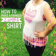 How to make a fringed Zumba shirt by Adventures of a Mamarazzi
