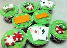 Poker cupcakes.