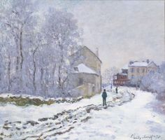 Claude Monet (Paris, 1840 - Giverny, 1926) : Snow in Argenteuil