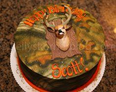Deer hunting birthday cake