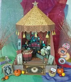 Madam Rue Gypsy Fortune Teller - Video Tutorial And New Image Sets Gypsy Fortune Teller, Mystical World, Gypsy Wagon, Miniture Things, Collage Sheet, Digital Collage, Dollhouse Miniatures, Fairy Houses, Create Collage