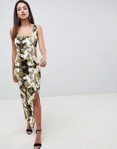 be44bad6c526 PrettyLittleThing Chiffon Tropical Print Maxi Skirt (€20) ❤ liked ...