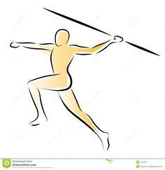 woman throwing javelin | Illustration of an athlete throwing the javelin.